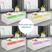New Coffee Table Side Table W/ Drawer Storage Cabinet Coffee Table