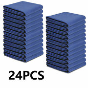 24 Pack Moving Blankets 80 X 72 Pro Economy Blue Shipping Furniture Pads