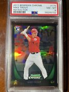 2011 Bowman Chrome Mike Trout Rc 175 Refractor Psa 8 Nicely Centered Very Clean