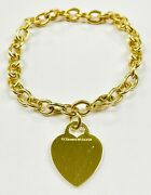 Rare And Co. 18k Yellow Gold Heart Charm Bracelet 28.1 Grams 750 Tandco.
