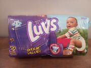 Vintage Luvs Blues Clues Disposable Diapers Sealed 50 Count Package