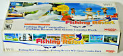 Wii Fishing Resort With Rod Complete Open Box Game Disc In Mint