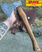 Cross Axe 58-60 Hrc Damascus Steel Axe Hand Forged Tactical Outdoor Hunting Axe