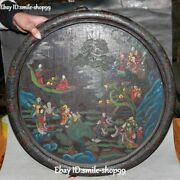22 Unique Wood Lacquerware Tree People Person Poet Chat Mountain Folding Screen