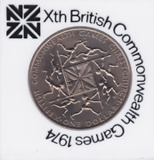 1974 New Zealand One Dollar Xth British Commonwealth Games Commemorative Coin