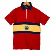 Vintage Polo Stripes Crest Cookies Fishing Rugby Jersey T-shirts