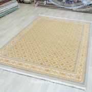 Yilong 6.56and039x9.84and039 Yellow Wool Rug Living Room All-over Family Room Carpet 310w