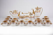 Antique 19th Original French Rare Coffee Service For 12 People 29pc 24k Gold