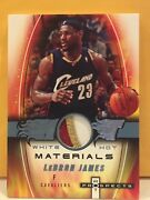 Lebron James 2006-07 White Hot Materials Prospects Game Worn 3 Color Patch 2/10