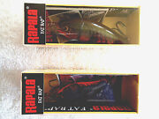 Rapala- Fat Raps In Red Craw - Crankbait 2 -- 1 Each Fr-5 And 7-ireland
