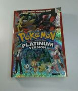 The Official Pokemon Guide Platinum Version Book Complete With Poster And Stickers
