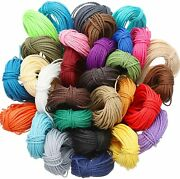 328 Yards 30 Colors 1mm Waxed Polyester Twine Cord Macrame Bracelet Thread...