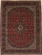 Semi Antique Classic Floral Red 10x13 Oriental Rug Living Dining Room Carpet