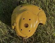 1930s /40s Green Bay Packers Game Worn Leather Football Helmet Tony Canadeo Rep