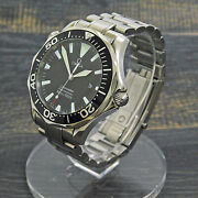 Omega Seamaster Professional S. Steel 2264.5 Quartz Menand039s Watch 11 Rise-on