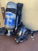 Drager Pss7000 Sentinel 4500psi Scba Pack Frame Harness With Pass Monitor Mask