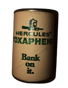 1950's Hercules Toxiphene Pesticide Insecticide Coin Slot Tin Metal Can