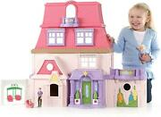 Loving Family Dollhouse Playset Kids Interactive Foldable Figures Fisher-price