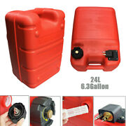 24l Boat Fuel Tank 6.3 Gallon Anti-static Red For Yamaha Marine Outboard Machine