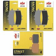 1200 Multistrada S D Air 15 Front And Rear Set Brake Pads Sbs Dual Carbon Dc Ls
