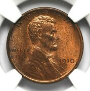 1910 S Wheat Penny Ngc Ms-65 Rb