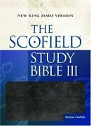 Scofield Study Bible New King James Version Burgundy Excellent Condition