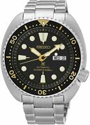 Pre-owned Seiko Menand039s Automatic Diver Stainless Steel 45mm Day/date Watch Srp775