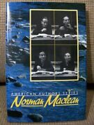 Norman Maclean Confluence American Authors Series By Ron Hugh Nichols Mint