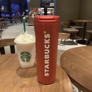 2021 Starbucks Tumler Cold Cup Mug W/ Liddouble Stainless Steel 17ozred Bz017