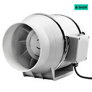 Silent Extractor Fan 6/8 Inch Duct Hydroponic Inline Exhaust Vent Industrial Us