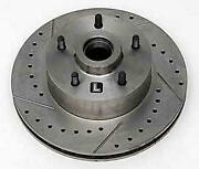 Chevy Front Disc Brake Rotor Drilled Slotted And Vented Left 1955-1957