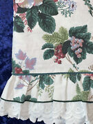 Waverly Pleasant Valley Chianti Full Size Flat Sheet Floral