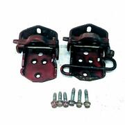 1984-1996 Chevrolet Corvette C4 Red Rh Lh Upper And Lower Door Hinges W Bolts