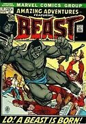 Amazing Adventures No. 11 First App. Of ' Beast' - 1971 By Gerry Conway Vg+