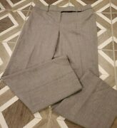 Talbots Petite 12p Gray Signature Straight Wool Trouser Pants Flat Front Lined