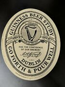 """Guinness Beer Study """"go Forth And Pour Well"""" Tin Tracker Pub Sign New"""