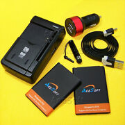 Acesoft 2x 3000mah Battery Car Charger Usb Cable For Lg Optimus Dynamic Ii L39c