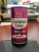 Rare Champagne Velvet Gold Label Flat Top Beer Can--very Nice--