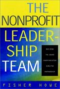Nonprofit Leadership Team Building Board Chair-executive By Fisher William H.