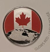 🇨🇦 2019 This Is Canada, 5 Fine Silver, Glow In The Dark Coin Gem Uncirculated