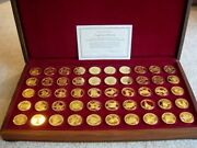 Governors Ed Of Franklin Mint States Of The Union 50 24kt Gold Plate On Sterling