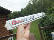 Coors Light Lucite W/ White Mountains Beer Tap Keg Handle