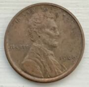 1909-vdb Lincoln Wheat Cent 1c Penny U.s Coin