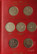 1970 Caribbean Development Fao Proof Quality Page Of 4 Dollar Coins