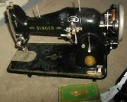 Vtg Singer Featherweight 1950's Sewing Machine 221 W/ Accessories And Foot Pedal