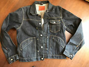 Polo Double Rl Rrl Men Jean Jacket Denim New Size M One Pocket Salvaged Once We