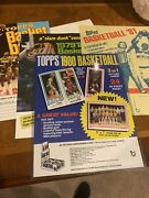 Iconic Topps Ad Posters Featuring 1980 Bird / Magic Rookie