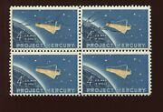 Astronaut Gordon Cooper Jr Signed Project Mercury Block Of Stamps 1193 By 295