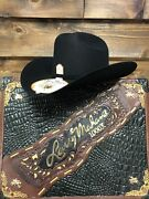 Larry Mahan Imperial 1000x Felt Hat With Leather Case - Black