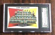 1960 Topps 18 Dodgers Team Sgc 8.5 Undergraded Should Be A 96 Best On Ebay